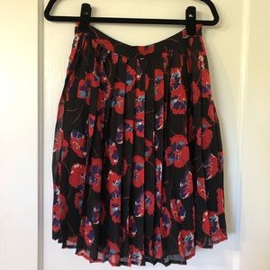 ModCloth Pleated Floral Skirt